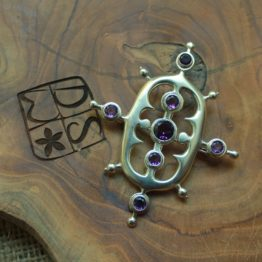 Silver Brooch, Eight Eyes of Wind, DSW Jewellery Bali