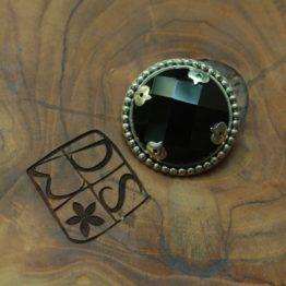 Silver Brooch, Four Eyes of Wisdom, DSW Jewellery Bali