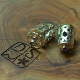 Silver Earrings, Eight Eyes of Wind, DSW Jewellery Bali
